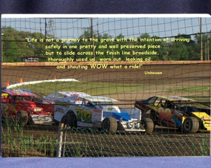 Funny Photo Plaque| Life Is Not A Journey To The Grave - Race Car Photo With Quote - Digital Photo Gift For Dad