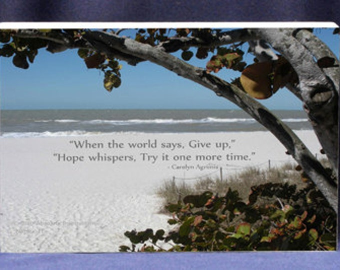 Inspirational Photo with Quote of Encouragement and Hope