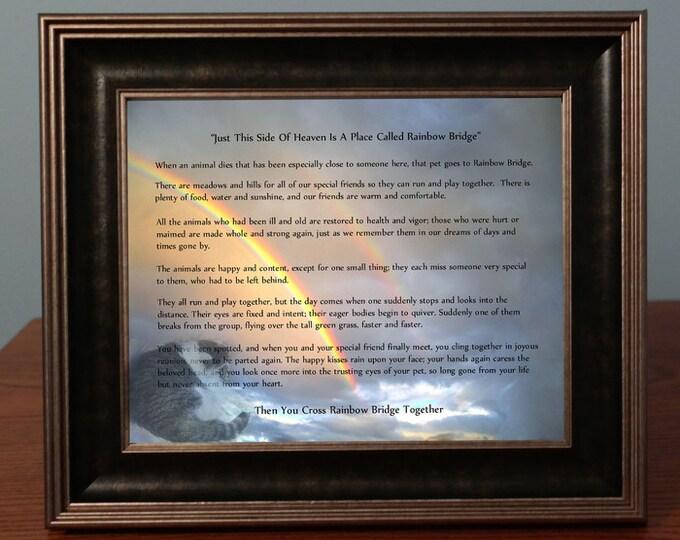 Digital Photo Gift Rainbow Bridge| Photo Memorial Gift |Pet Loss Sympathy Gift