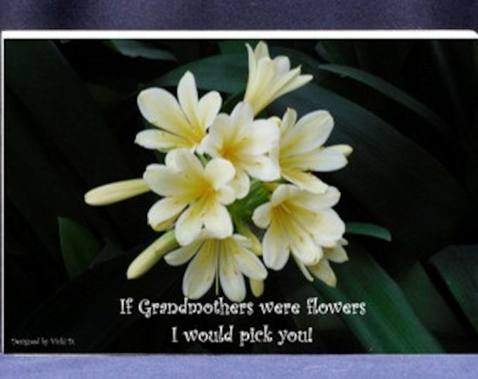 Photo Gift For Grandmom - If Grandmothers Were Flowers I Would Pick|Digital Print and Photo Mount