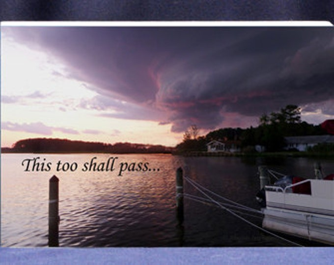 This Too Shall Pass Inspirational Gift Plaque Photo Gift