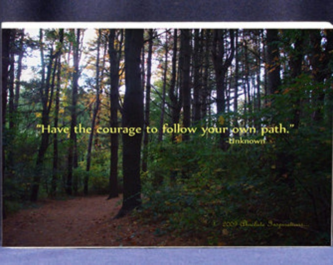 Custom Photo Gift for Graduate |Have The Courage To Follow Your Own Path -Digital Photo Gifts, Professional  Photo Mounts Custom Gift Ideas
