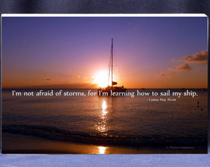 Beautiful Sunset Sail Photograph| I Am Not Afraid Of Storms For I Am Learning How To Sail My Ship