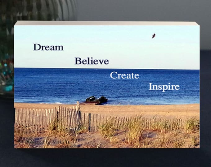Inspirational Plaque for the Graduate Dream Believe Create Inspire