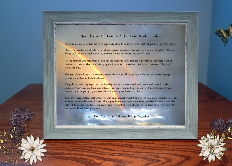 Rainbow Bridge Sympathy Photo Gift image 0