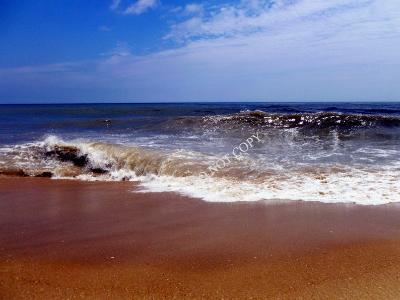 Ocean Waves Photograph Create Your Own Beach House Photo Gift image 0