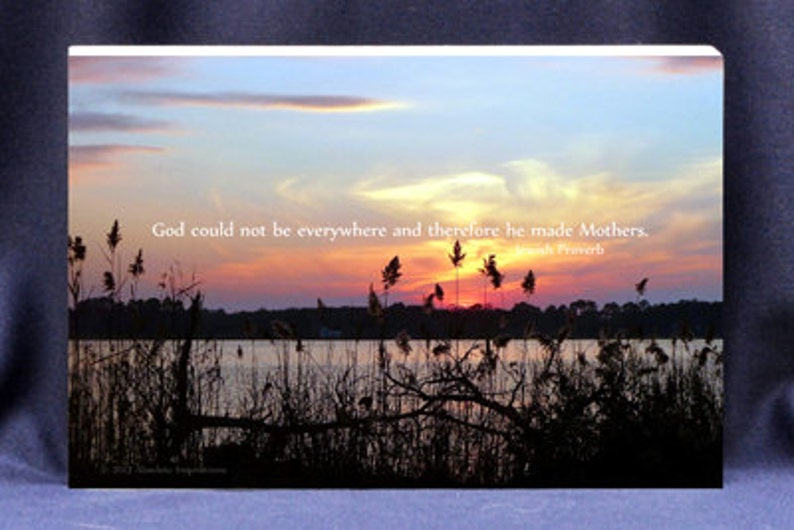 Religious Gift Plaque For Mom God Could Not Be Everywhere image 0
