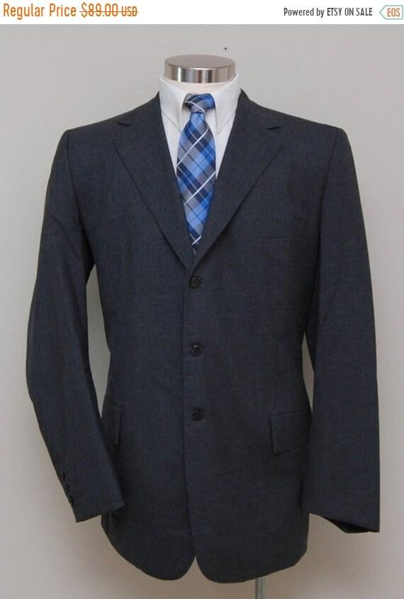 SALE Vintage men's grey wool blazer/ men's grey wo