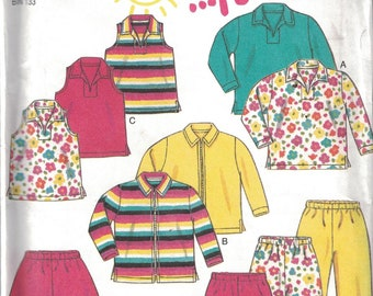 UNCUT Vintage New Look SEWING Pattern Children/'s Top Jacket Pants Shorts 6623 FF