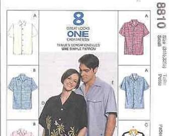 McCall/'s 8407  Boys/' Shirts    Sewing Pattern