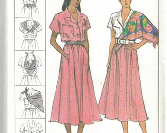 Blouse and Scarf  6 to 14   Sewing Pattern Simplicity 9199 Misses/' Skirt