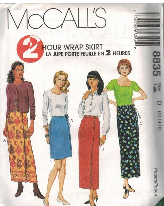 7905 Vintage UNCUT McCalls SEWING Pattern Misses Wrap Skirt 8 Looks OOP SEW FF