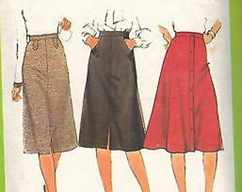 8241 Vintage Simplicity Sewing Pattern Misses Set of Skirts Top Stitched OOP SEW