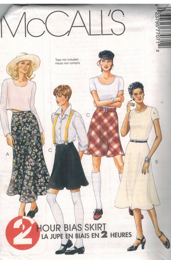 Vintage McCalls SEWING Pattern 8498 EASY Misses Jacket and Skirt UNCUT OOP