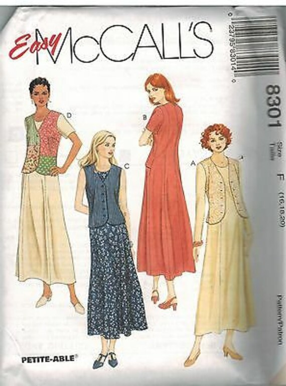 8693 UNCUT Vintage McCalls SEWING Pattern Misses Semi Fitted Dress Spring Casual