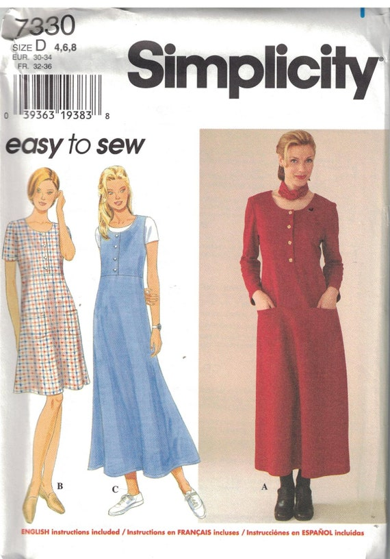 7757 Vintage Simplicity SEWING Pattern Misses EASY Jumper UNCUT NEW SEW FF 2 HR