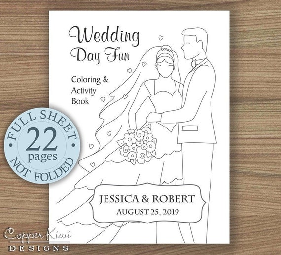 Wedding Coloring Book Kids Favors Activity