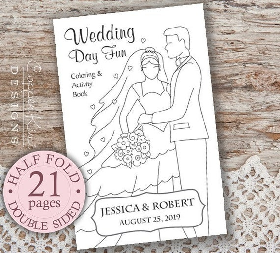 Wedding Coloring Book Kids Favors Personalized