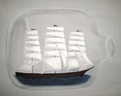 Ship In a Bottle - 8.5x11 Print