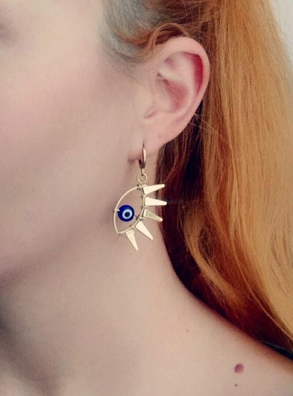 Nomad Evil Eye Dangle Earrings