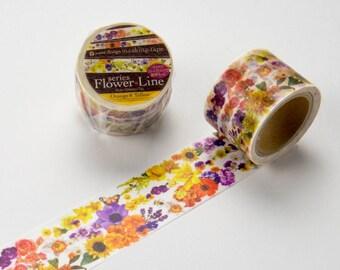 Orange Yellow flower Yano design washi tape 30mm x 7M