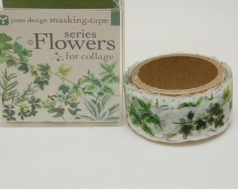 Flowers series Leaf Yano design washi tape 20mm x 5M