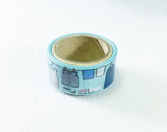 Laundry washi tape Yano design debut series laundry washi 20mm x 5M