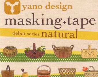 Basket Yano design debut series washi tape 20mm x 5M