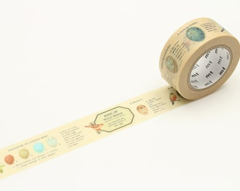 Bird egg MT ex Washi tape masking tape, 1 roll washi tape 21mm x 10M