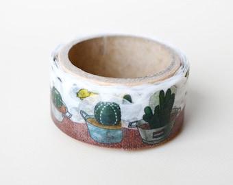 Cactus  Yano design debut series washi tape 20mm x 5M