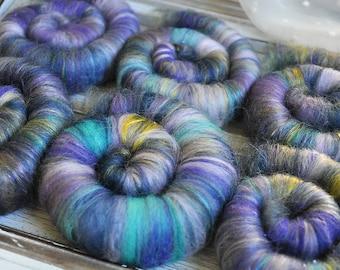 Punis Rolags Merino & Silk Tapestry Fine Merino Wool Spinning and Felting Fibre 1 oz