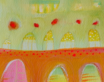 Bending Towards the Sun original abstract painting by Laura Gaffke