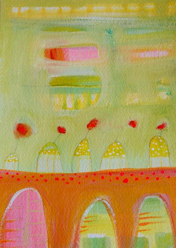 Summer Zest Original Acrylic Painting by Laura Gaffke