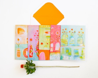 The Endless Summer Blooms Notecard Set by Laura Gaffke