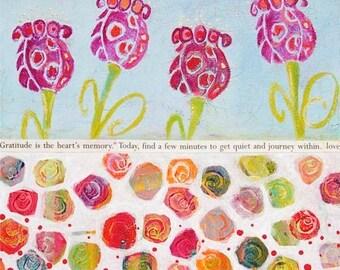 HAPPY FLOWERS Fine Art Print by Laura Gaffke