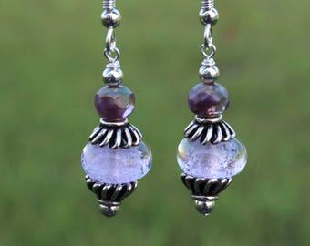 Womens Lilac Earrings
