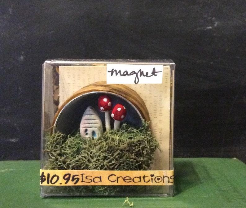 Tiny House Mushroom  Magnet