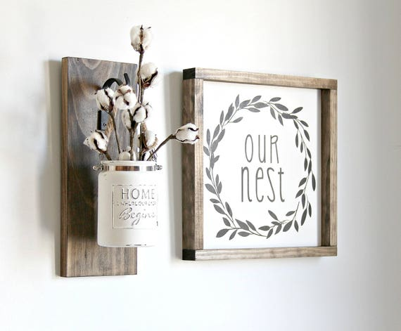 Teacher Gift Idea Rustic Sconce Rustic Home Decor Wall Etsy