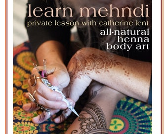 Private Henna Lesson: Gift Card for 1.5 Hours in Frenchtown, NJ