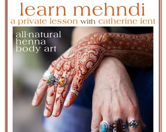 Private Henna Lesson: Gift Card for One Hour in Frenchtown, NJ