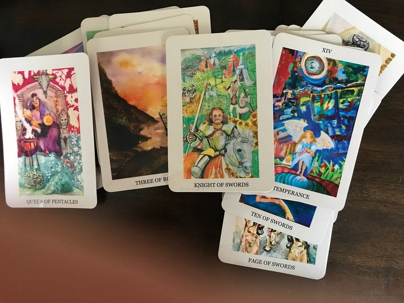 On Sale/Tarot Card Deck/Tarot Cards/Major Arcana/Hand Painted/Psychic  Reading/Box Set/Professional Psychic/Professional Artist