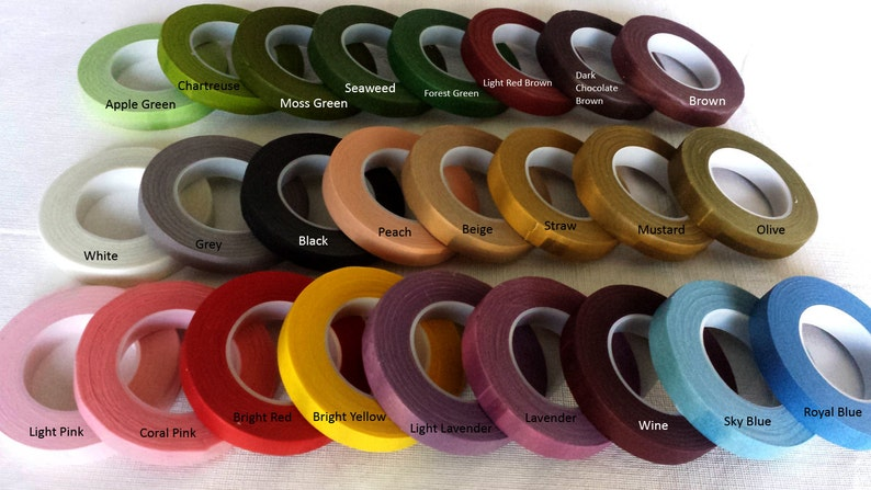 1 roll of floral tape  30 Yards 27 M/per roll 22 Colors image 0