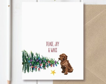 dog christmas cards holiday card set dogs dog stationery dog cards christmas cards dogs pets goldendoodle labradoodle - Pet Holiday Cards
