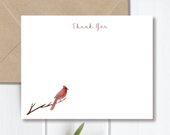Bird Stationery Bird Note Cards Mother/'s Day Gift Idea Cardinal Stationery Personalized Stationery Cardinals Thank You Cards