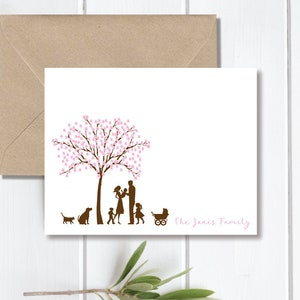 Cherry Blossom Trees Birth Announcements New Baby Baby Thank You Cards Baby Shower Cherry Blossom Baby Announcements Baby Announcement