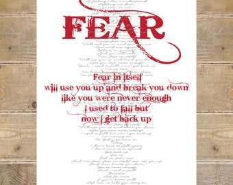 October etsy blue october blue october lyrics fear lyrics wall decor song lyrics prints custom print blue october lyrics wall art prints stopboris Gallery