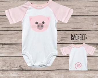 5f5ed093ee40b Pig baby clothes | Etsy