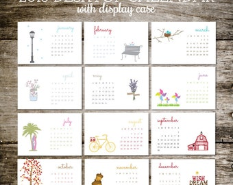 desk calendar 2018 calendar calendar 2018 office calendar desktop calendar mason jars office gift christmas gift stocking stuffer