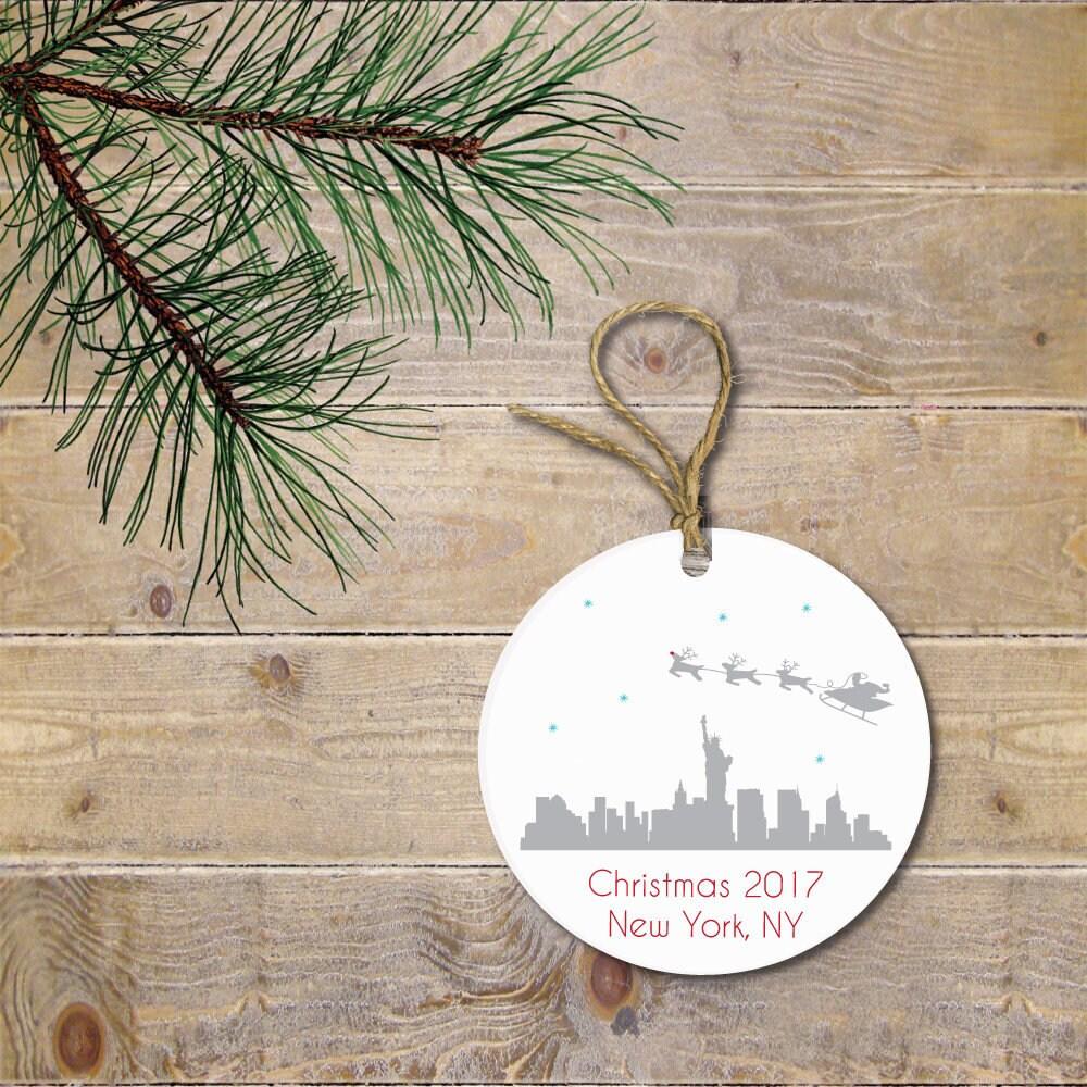 New York City Christmas Ornament NYC Christmas Ornament | Etsy