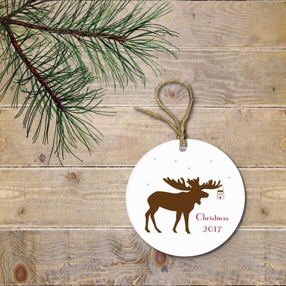 Moose Christmas Ornament Moose Custom Christmas Ornaments   Etsy